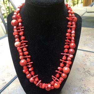 R. J. Graziano Designer Coral Necklace